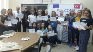 With the certificates