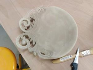 Alenky barokní talíř