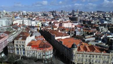pohled na Porto z věže